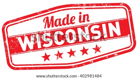 made in wisconsin - stock vector