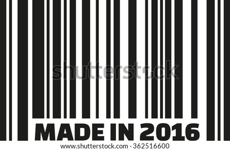 Made in 2016 with barcode