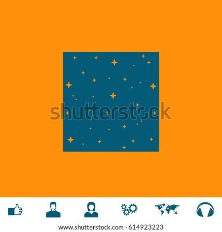 Made Stars Square Blue Symbol Icon Stock Vector 614923223 Shutterstock