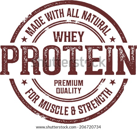 Made with Whey Protein Stamp - stock vector
