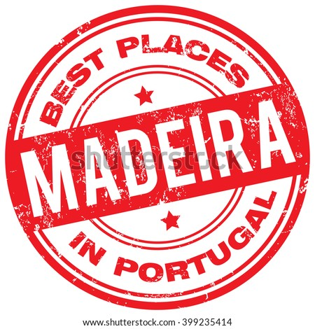 madeira portugal stamp - stock vector