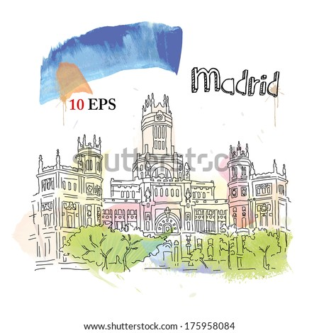 Madrid. - stock vector