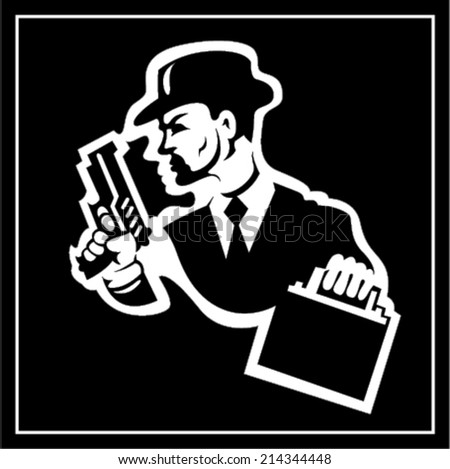 Mafia man - stock vector