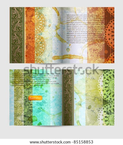 Magazine blank page vintage design template - stock vector