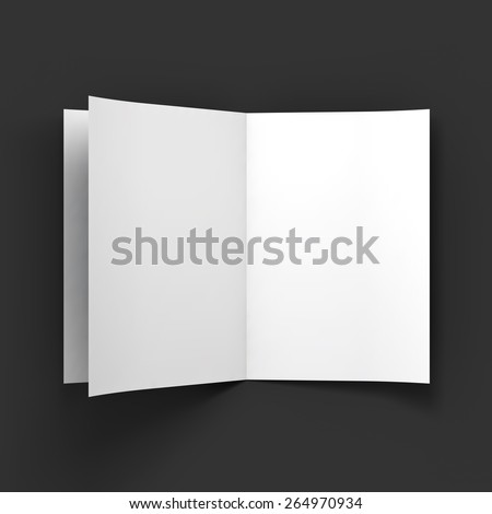 Magazine, booklet, postcard or brochure mockup template. Vector Illustration EPS10. - stock vector
