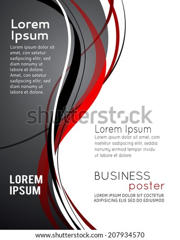 Magazine cover, design layout template. Abstract vector background. - stock vector