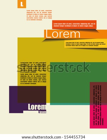 Magazine Cover & Poster Template. Banner Design template for text - stock vector