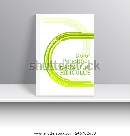 Magazine Cover with dynamic green line, curve. For book, brochure, flyer, poster, booklet, leaflet, cd cover design, postcard, business card, annual report. vector illustration. abstract background - stock vector