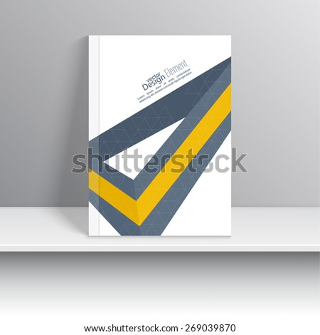 Magazine Cover with origami intersecting ribbons.  - stock vector