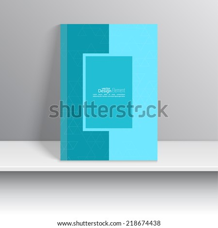 Magazine Cover with pattern triangle. Modern flat design. Booklet, postcard, business card, annual report, cover. vector illustration. abstract background - stock vector