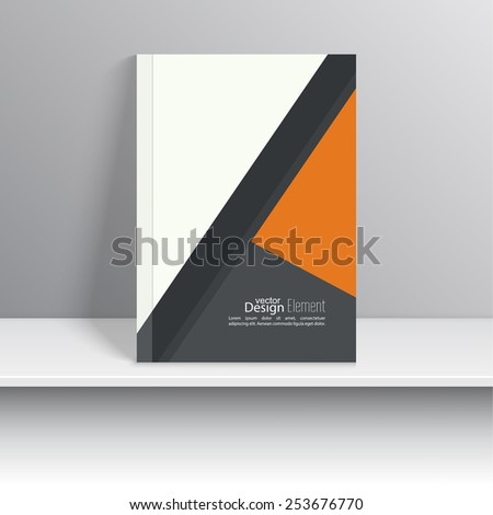 Magazine Cover with pieces colored paper. For book, brochure, flyer, poster, booklet, leaflet, cd cover design, postcard, business card, annual report. vector illustration. abstract background - stock vector