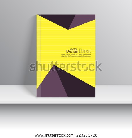 Magazine Cover with with glossy pyramids, triangles. For book, brochure, flyer, poster, booklet, leaflet,  postcard, business card, annual report. vector illustration. abstract background - stock vector