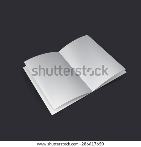 Magazine, flyer, business card or brochure mockup, booklet, postcard. Vector illustration eps10 - stock vector