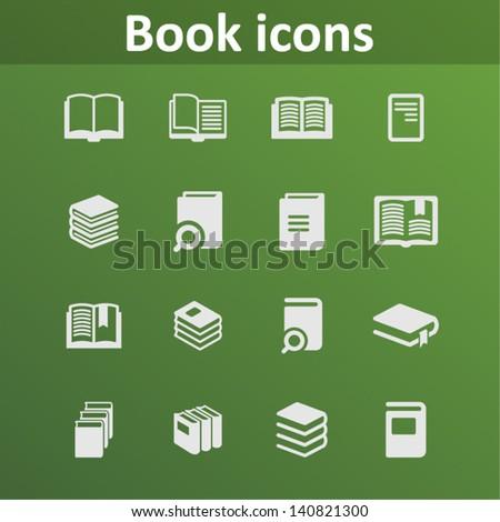 Magazine icons - stock vector