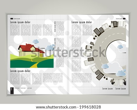 Magazine layout. Vector  - stock vector