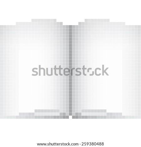 magazine pixel art - stock vector