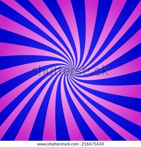 Magenta blue spiral background - vector version - stock vector