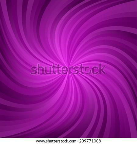 Magenta spiral pattern background - vector version - stock vector