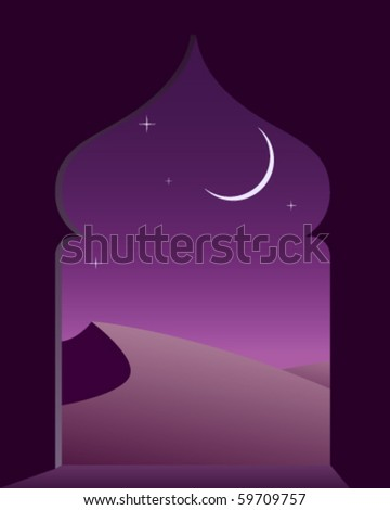 Magic arabian night - stock vector