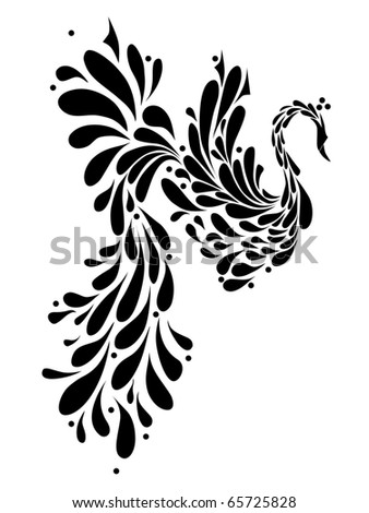 Mythical phoenix bird Stock Photos, Illustrations, and Vector Art