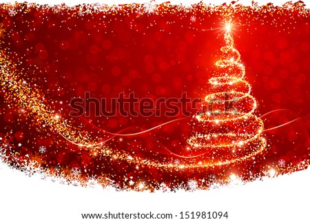 Magic Christmas Tree - stock vector