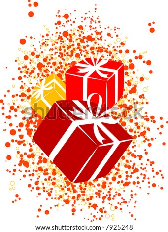magic color gifts, vector, new year present boxes