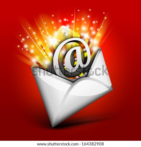 Magic email concept for holiday - stock vector