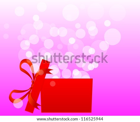 Magic gift box with a big surprise - christmas illustration - stock vector