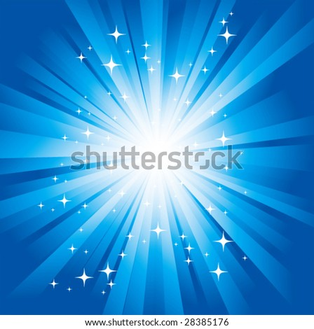 Magic light. Vector. - stock vector