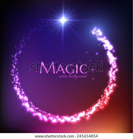 Magic light vector background. Eps10. - stock vector