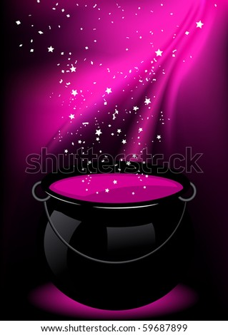Magic potion, vector illustration - stock vector