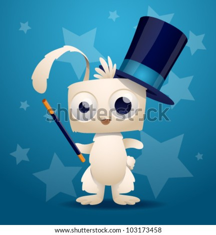 magic rabbit, vector 3 - stock vector