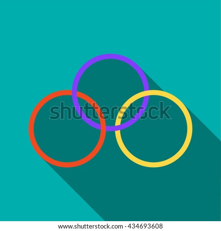 Magic rings icon in flat style - stock vector