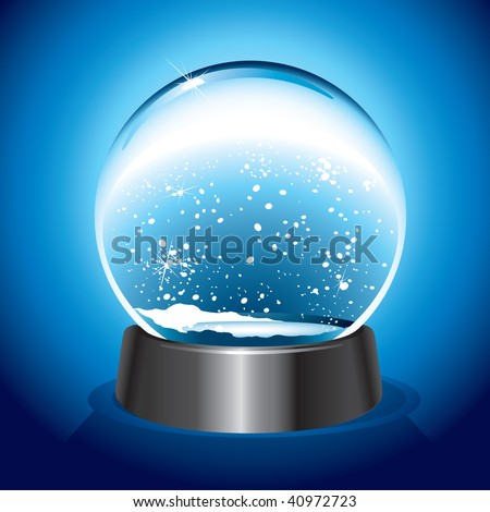 Magic Snow Dome (vector). In the gallery also available XXL jpeg version of this image. - stock vector