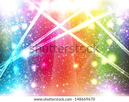 Magic Spotlights - stock vector