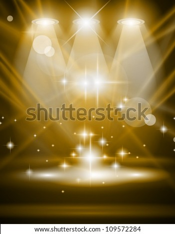 Magic Spotlights with Blue rays and glowing effect for people or product advertising. Every lights and shadows are transparent. - stock vector