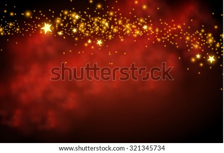Magic texture & fog background with stars. Vector illustration - stock vector