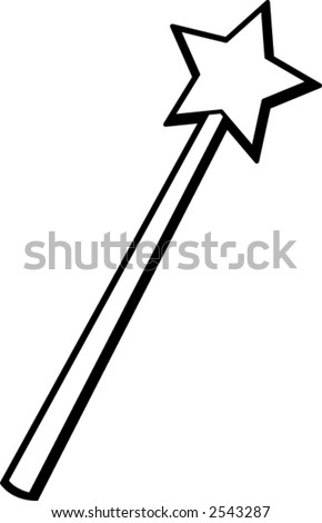 magic wand - stock vector