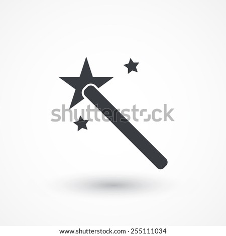 Wand Icon Magic Wand Icon Stock Vector