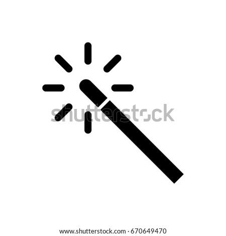 Magic Wand Icon Stock Vector 670649470 Shutterstock