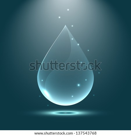 Magic water drope. Abstract background - stock vector
