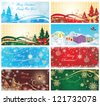 Magic xmas banners - stock vector