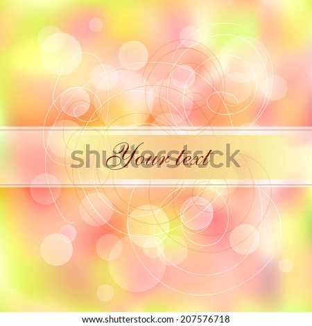 Magical background with bright bokeh - stock vector