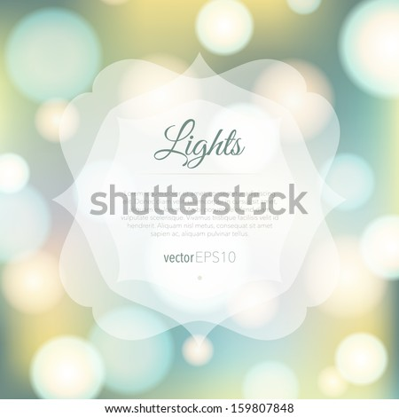 Magical background with colorful bokeh - stock vector
