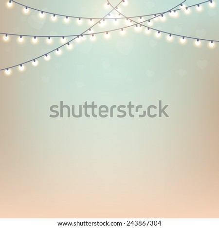Magical background with colorful bokeh. Blurred background with lights. Stylish backdrop for you text - stock vector