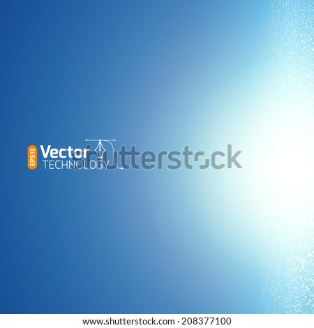 Magical glow on a blue background - stock vector