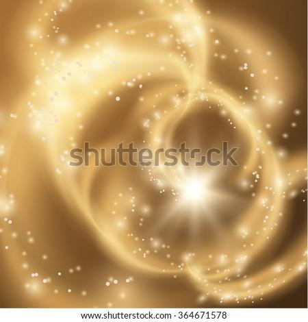 Magical swirls vector background, Vector eps10. - stock vector