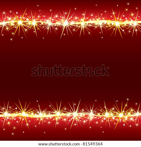 Magical Vector Background with Flashing, Sparkling stars - stock vector