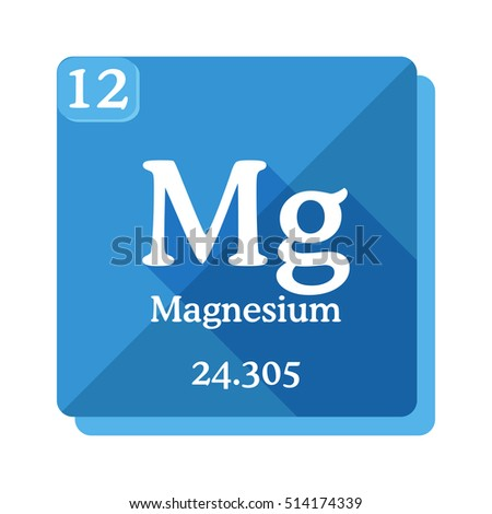 Magnesium mg element periodic table vector stock vector 514174339 magnesium mg element of the periodic table vector illustration in flat style urtaz
