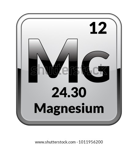 Magnesium symbol chemical element periodic table on stock vector magnesium symbolemical element of the periodic table on a glossy white background in a urtaz Images